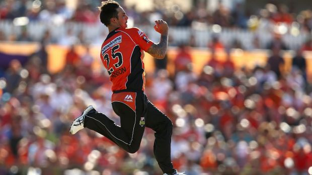 Mitchell Johnson was sensational for the Perth Scorchers in the BBL finals.