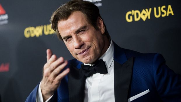 John Travolta attends this year's G'Day USA black tie gala.