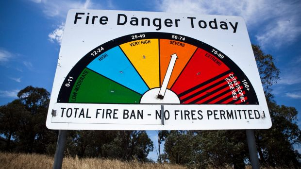 There will be a severe fire danger in the ACT on Friday.