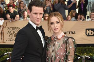 Matt Smith and Claire Foy arrive at the 23rd annual Screen Actors Guild Awards.
