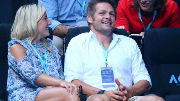 Keen student of the game: Richie McCaw, pictured at the Women's Singles final at the Australian Open last week.