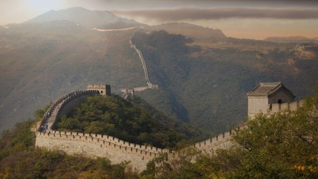 Not just the Great Wall but the Great Firewall, too.
