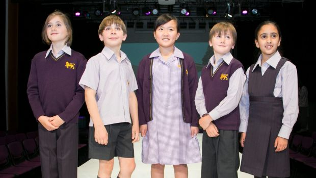 New fabrics for school uniforms at Wesley College, Melbourne.