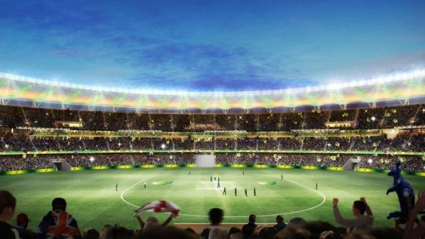 Labor plans to sell the name for Perth Stadium in a bid to fix the WA budget.