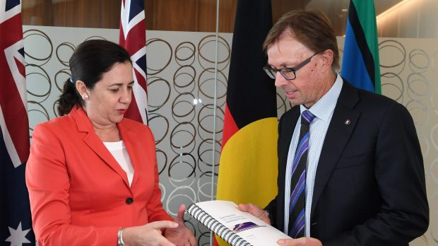 Premier Annastacia Palaszczuk and Commissioner Phillip Strachan have unveiled the report into Queensland Rail and its ...