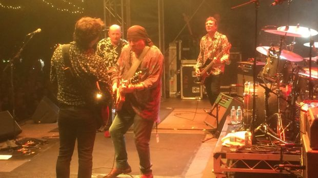 "Unrehearsed finale: Hoodoo Gurus with the E Street Band's ""Little"" Steve Van Zandt."