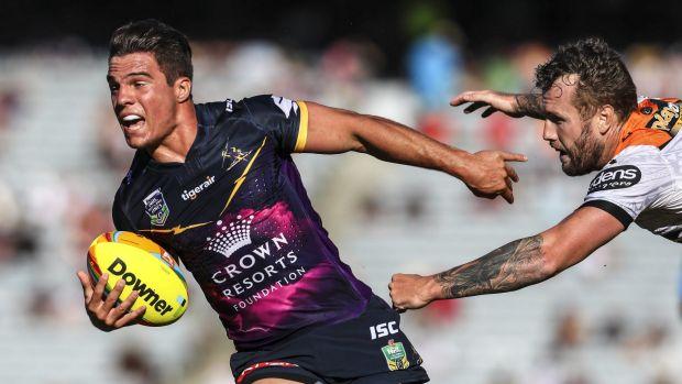 Doing their job: Brodie Croft is among the Storm young guns Craig Bellamy just wants to play their role against Parramatta.