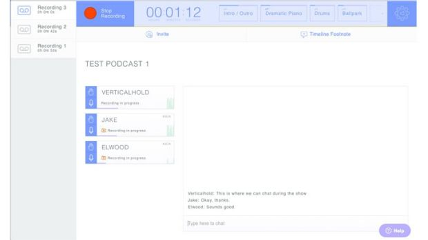 While you're recording in Zencastr the host can see everyone's levels and audio device and access the Live Editing ...