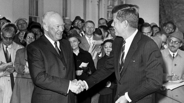 Then US president Dwight Eisenhower with president-elect John F. Kennedy in 1960. Eisenhower, a former general, feared ...