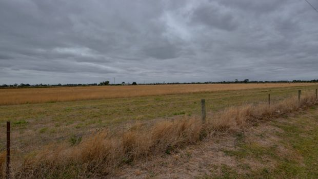 The land in Werribee South where a new youth prison will be built.