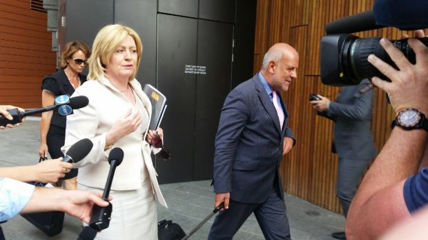Perth Lord Mayor Lisa Scaffidi outside a recent hearing.