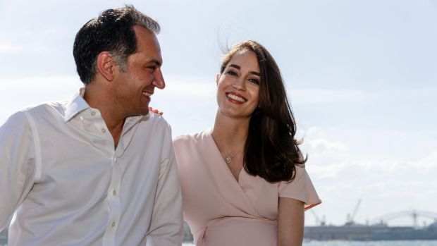 Ross Farhadieh and wife Yasamin Farhadieh in Sydney, where they live while also spending time in Canberra, where he ...