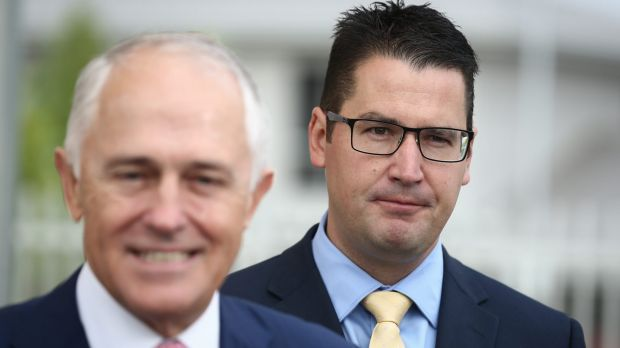 Prime Minister Malcolm Turnbull and ACT Liberal senator Zed Seselja.