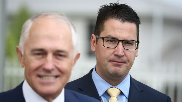 "Multicultural Affairs Minister Zed Seselja, right, said parts of the report's criticism were ""bizarre""."