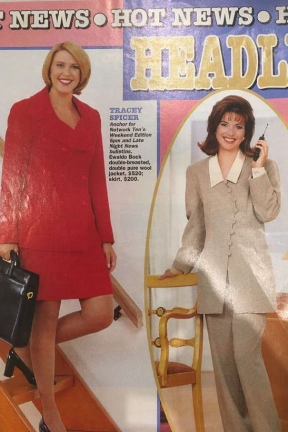 """""""One from the vault,"""" Juanita Phillips captioned this throwback on Twitter. """"@TraceySpicer I love your briefcase almost ..."""
