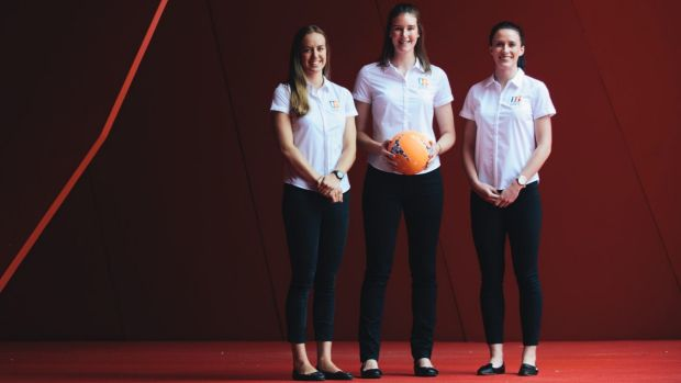Georgia Clayden, Shannon O'Connor, and Leigh Kalsbeek are the ACT representatives in the Canberra Giants this season.