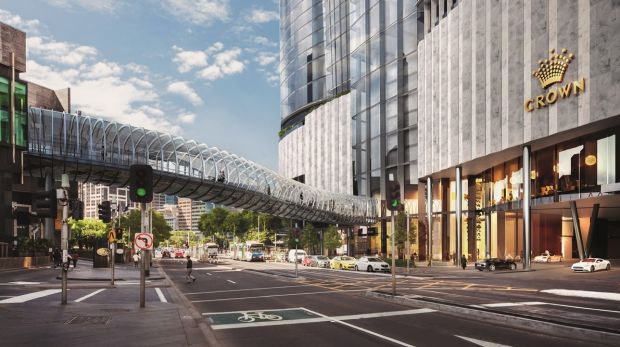An artist's impression of the planned tower at street level.