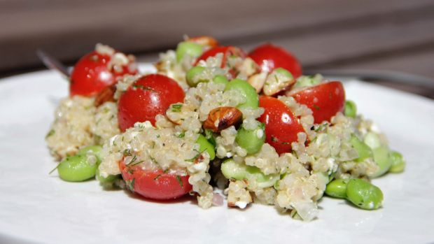A quinoa salad from a recipe by US chef Melissa D'arabian.