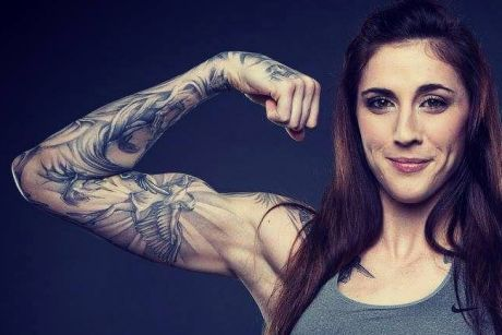 Megan Anderson holds the Invicta interim featherweight title.