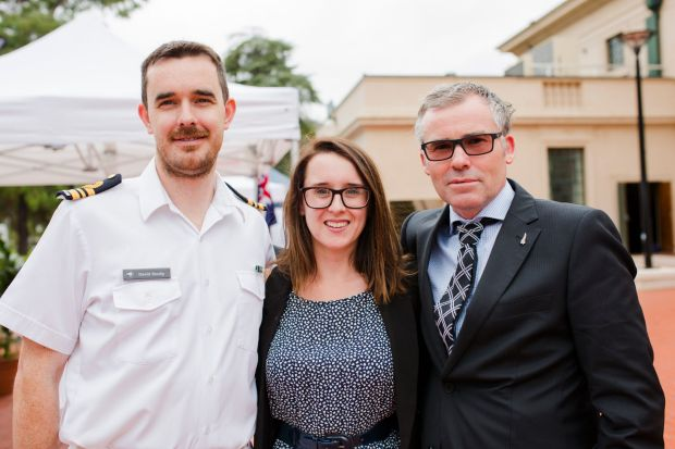 From left, David Scully, of Narrabundah, Nathalie Blakely, of New Acton, and Wayne Redmond, of Forrest.