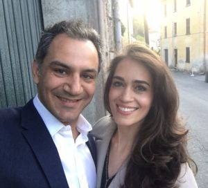 Canberra plastic surgeon Ross Farhadieh and wife Yasamin Farhadieh on a trip to Italy.