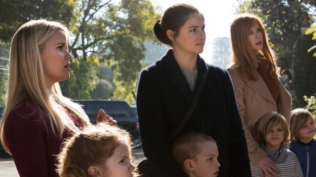 Reece Witherspoon (left), Shailene Woodley and Nicole Kidman star in Big Little Lies.