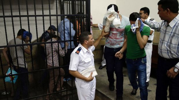 "Eight Egyptian men were convicted for ""inciting debauchery"" in 2014 following their appearance in a video of an alleged ..."