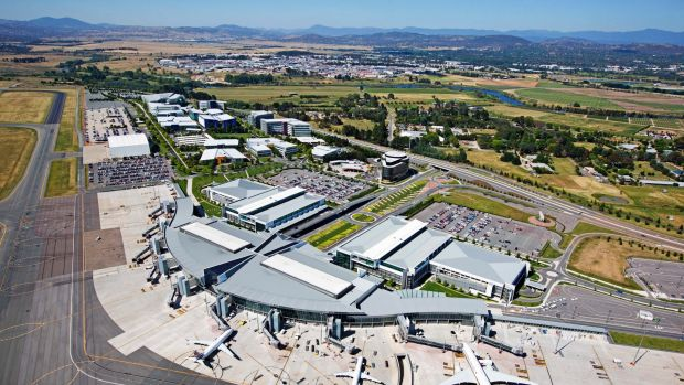 At least 22 airports across Australia are though to be affected by legacy chemical contamination. Pictured is Canberra ...