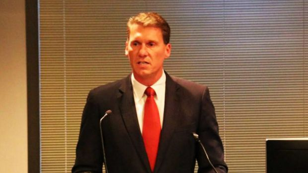 Independent senator Cory Bernardi spoke at the anti-halal fundraiser in Melbourne on Friday.