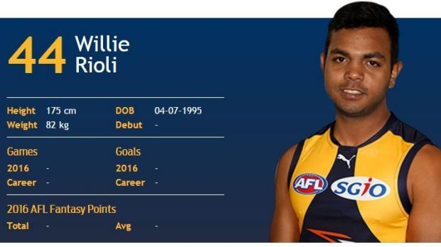 Willie Rioli has torn his hamstring.