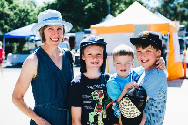 From left, Rebecca Gordon of Mawson, Austin Pearce of Hughes, and Charlie and Ben Gordon of Mawson.