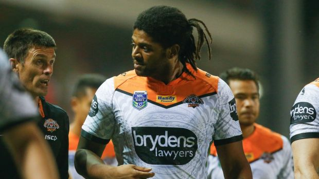 Back in the game: Jamal Idris in his comeback match with the Tigers in February.
