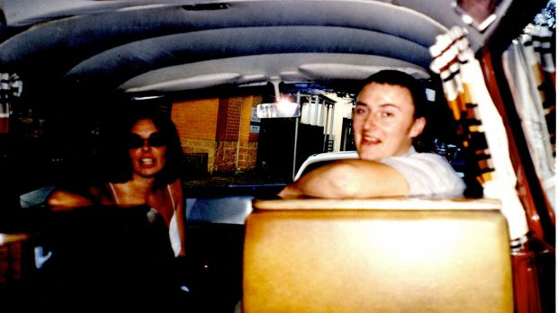 Joanne Lees and Peter Falconio in their campervan prior to Mr Falconio's murder.