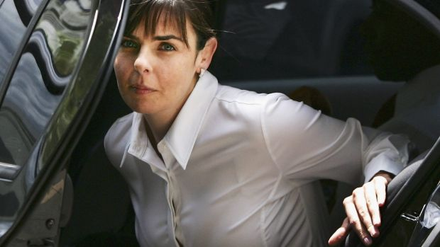 Joanne Lees arriving at the Northern Territory Supreme Court for the 2005 trial of Bradley John Murdoch.