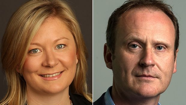 Lisa Davies, new editor of The Sydney Morning Herald, and Alex Lavelle, new editor of The Age.