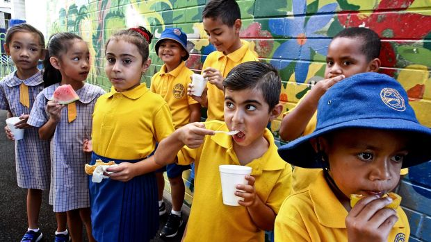 A pop-up breakfast canteen at Cabramatta Public School is teaching students to eat well.