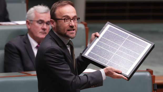 "Adam Bandt said the Parliamentary Budget Office analysis showed the emissions reduction fund was ""an empty vessel built ..."