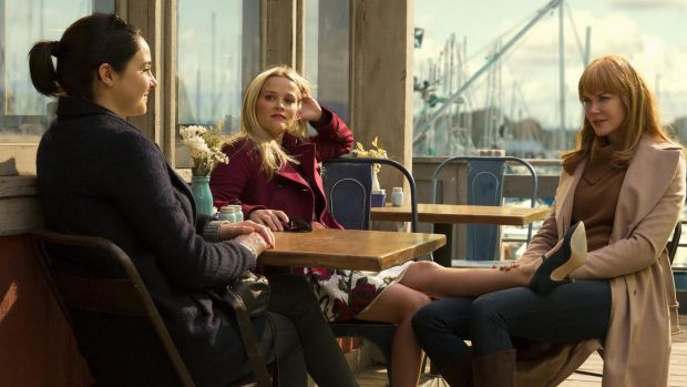 Shailene Woodley, Reese Witherspoon and Nicole Kidman in <i>Big Little Lies</i>.