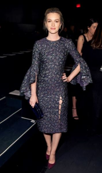 Spotted: Leighton Meester make a rare appearance, showing her support for Prabal Gurung.