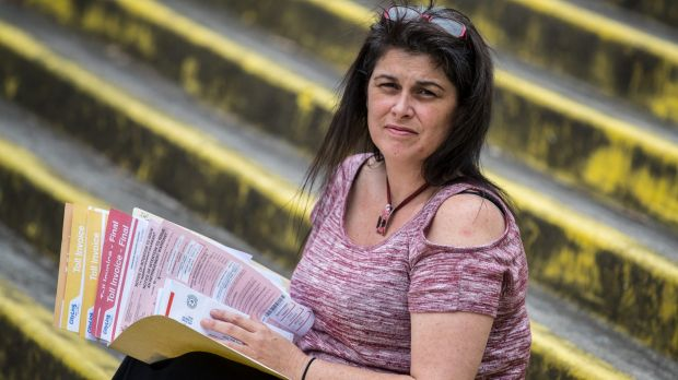 Kelly racked up $30,000 in road toll fines after moving to Melbourne from Queensland.