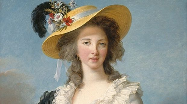 Madame Pompadour, a fetching likeness of the Duchesse de Polignac by Elisabeth Vigée Le Brun from the Versailles Palace.