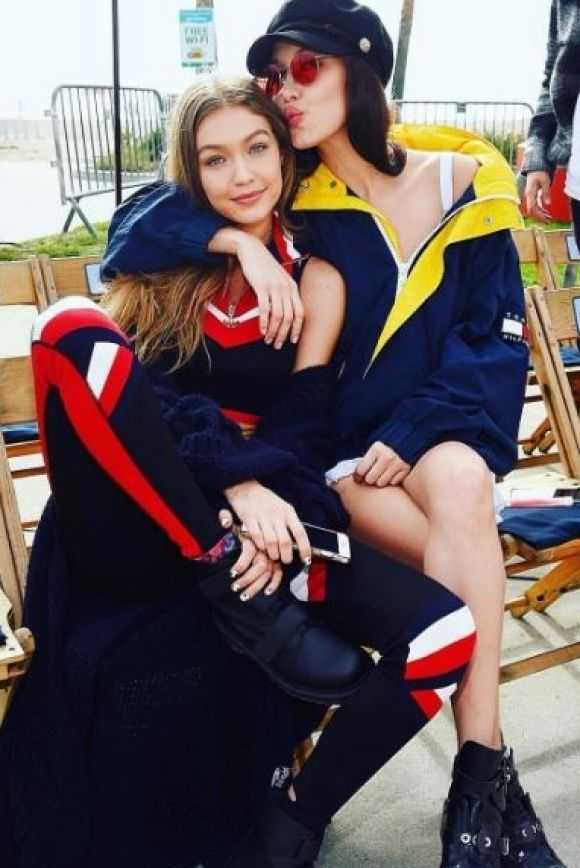 It's nineties baby with Bella shared her sisterly love before working with sister Gigi in her Tommy Hilfiger collaboration.