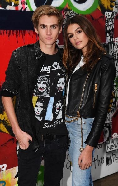 Fashion offspring was out in force at the TommyLand show with models Presley Walker Gerber and Kaia Jordan Gerber ...