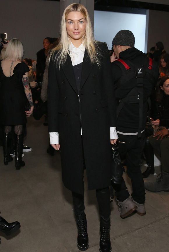 Australian model Jessica Hart showed her support in the frow of Australian brand Tome.