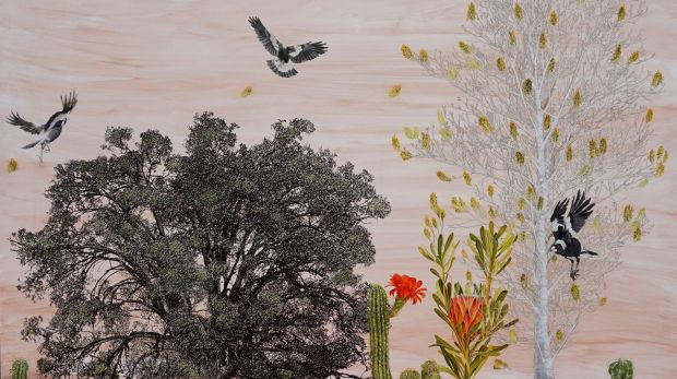 """Dianne Fogwell'S 'Renascent' in """"Renascent"""" at Beaver Galleries."""