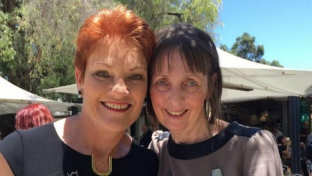 Michelle Myers with One Nation leader Pauline Hanson.