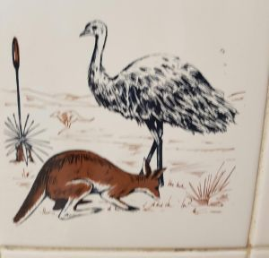 Another tile in the men's toilet in the Sussex Inlet RSL.