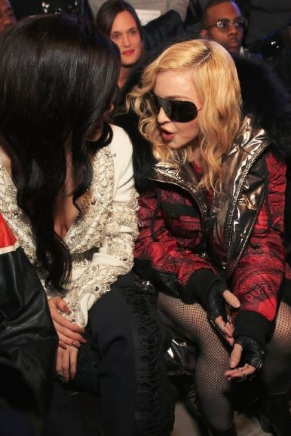 Madonna and Kylie Jenner share a moment a the Philipp Plein show.