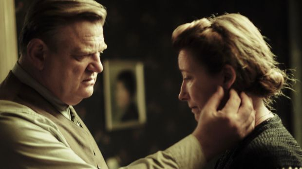 Brendan Gleeson and Emma Thompson as Anna and Otto Quangel, who are utterly alone in their resistance to Nazism.