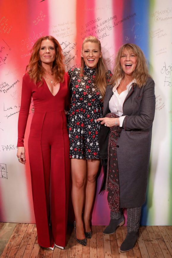Robyn Lively, Blaike Lively and Elaine Lively attend the L'Oreal Paris Paints + Colorista launch event at West Edge on ...